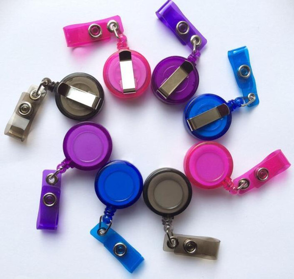 Work card sets Badge Holder Badge Lanyard Retractable buckle access card sets work card easy to pull buckle