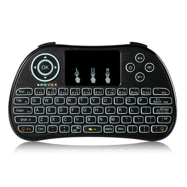 P9 Taşınabilir Mini Touchpad Kablosuz Arka Klavye Siyah 2.4 GHz oyun klavye Hava fare için MXQ MXQ PRO M8S S912 TV KUTUSU