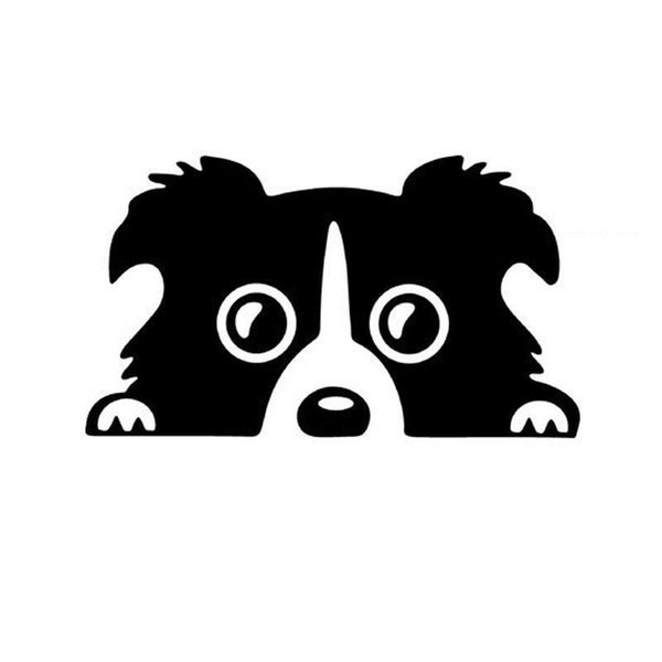 8CM*14CM Car Styling Dog Pattern Reflective Car Sticker Waterproof Funny Sticker