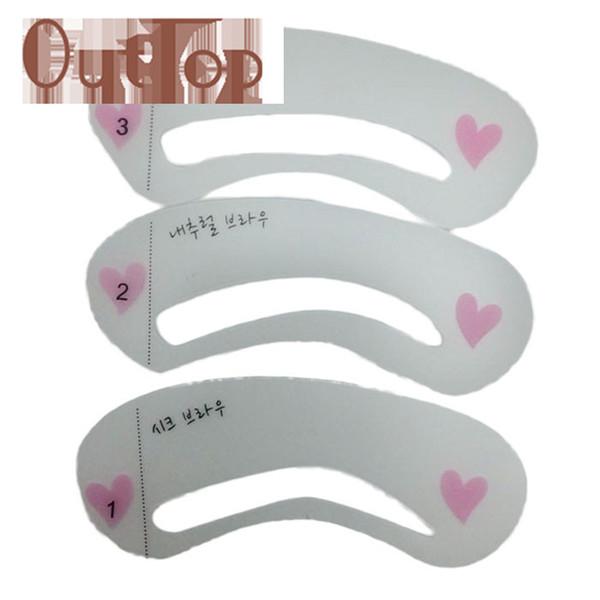 Graceful Eyebrow Shaping Stencils Thrush Card Tool Card Transparent ...