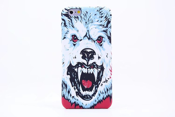 Brand Animals Lion Wolf Owl Pattern Hard Back Phone Case For iPhone 6s 6 Glow In The Dark Luminous Forest King pc Case