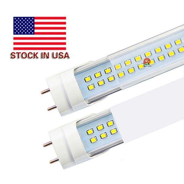 USA stock + 4ft led tube 22W 25W 28W livraison gratuite T8 4 pied 1.2 m Led Tubes AC 110-240V Pas de taxe