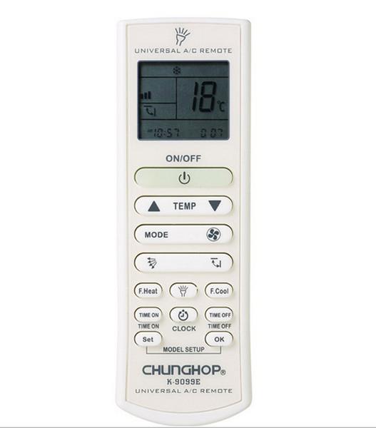 Wholesale-Universal Air Conditioner air conditioning remote control CHUNGHOP K9099E USE FOR TOSHIBA PANASONIC SANYO NEC FUJITSU LG