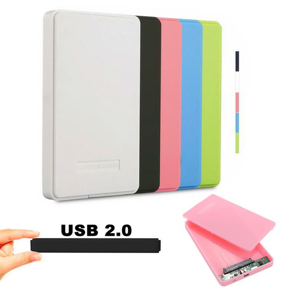top popular Screwless USB 2.0 480Mbps Enclosure Case Box Mobile Disk for HDD SSD Laptop 2.5 2021