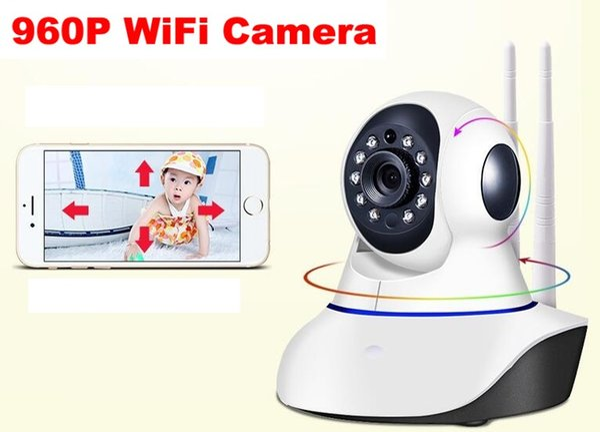 Double antenna Camera wireless IP camera WIFI Megapixel 960p HD indoor Wireless Digital Security CCTV IP Camera + 8G TF memory card MOQ:1PCS