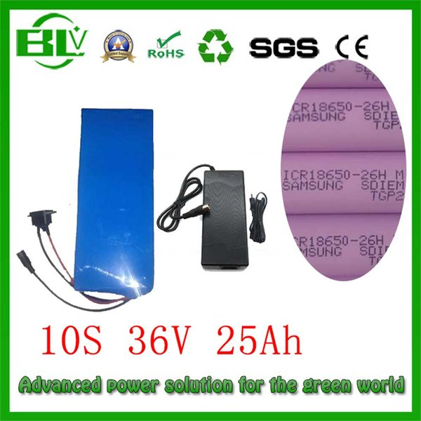 750W Ebike 36v 26Ah battery for electric bike scooter bicycle for sam--sung 26Hm lithium battery PVC BMS protected send Charger in China