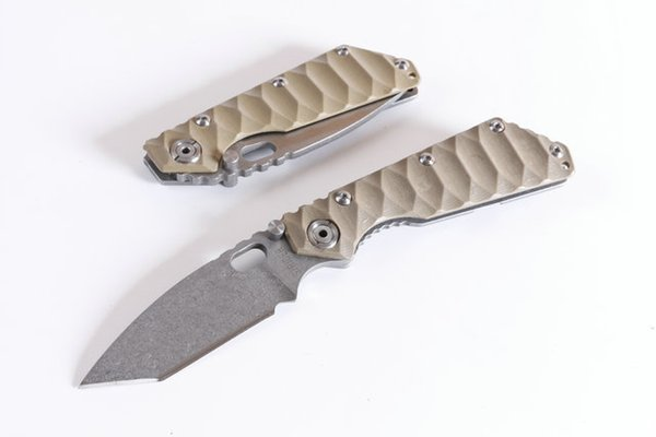 Drop Shipping OEM Strider Surival Tactical Knife 8Cr13 Satin Blade Black Sand G10 Handle EDC Pocket Knives With Retail Box