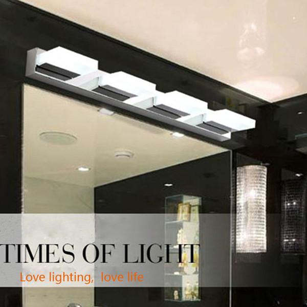 Acheter Salle De Bains Moderne Simple Style Rectangle LED Miroir Applique  Murale Lampe Frontale Étanche Ac90 260v Arcylic Appareils D\'éclairage ...