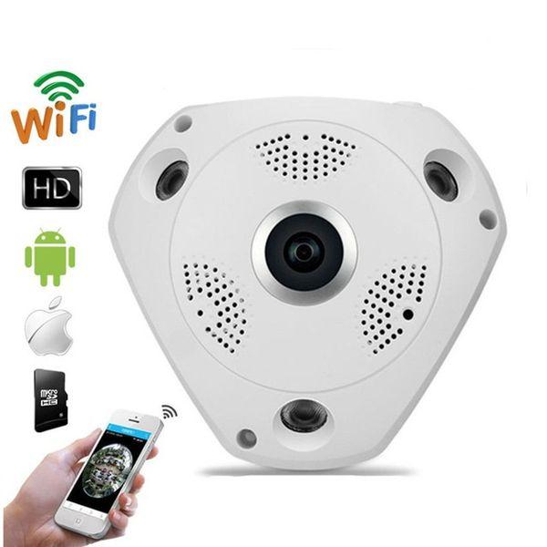 360° Panoramic Fisheye HD VR Cam 3D CCTV Camera  Wifi P2P IP Secure Night Vision