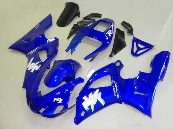 Three free beautiful gift and new high quality ABS fairing plates for YAMAHA YZF-R1 YZFR1000 1998 1999 very nice Nice color blue white