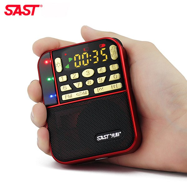 Wholesale-Mini Fm Pocket Stereo Radio Portable Micro Sd Radios Fashion Band Speaker Tf Usb Mp3 Speakers Fm Receiver Receivers Loudspeaker