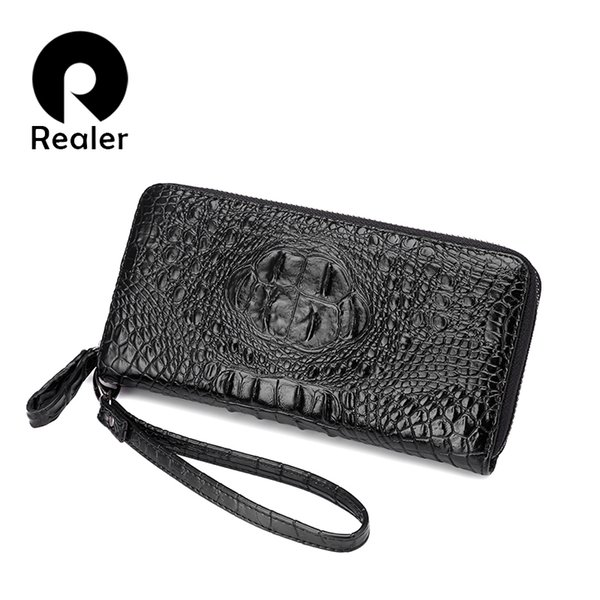 Wholesale- REALER New Women Wallets artificial leather High Quality Designer Brand Wallet Lady Fashion Clutch Casual Women Purses