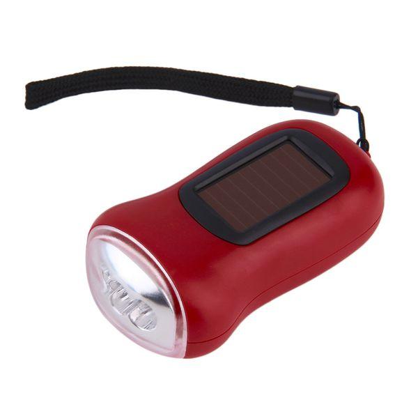top popular Mini Portable Hand Crank Dynamo 3 LED Solar Powered Flashlight Camping Torch 2021
