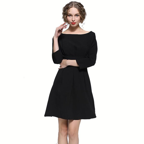 Spring Women Plus Size Dresses Casual Lady Office Pencil Dresses Wide Neck Fashion Women Dresses Free Shipping