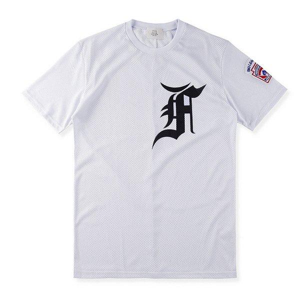 Fashion Justin bieber fan made Fear of God Fog Hip Hop Cool Mesh Jersey Sport Tee T-Shirt Men Women baseball Short Sleeve Tshirt