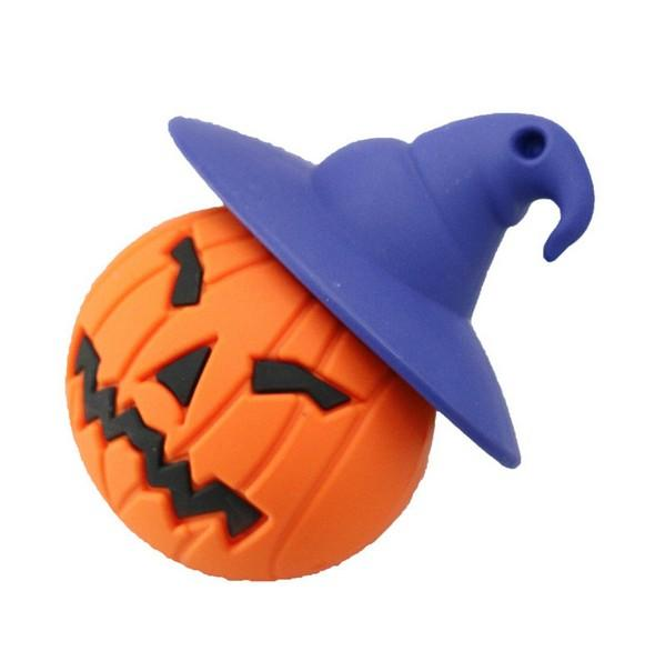 Pumpkin USB Flash Drive Halloween 4G Pen Drive 8G PenDrive 16GB Memory Card 32GB Real Capacity PVC Thumb Drive