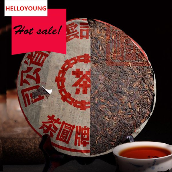 top popular Promotion 357g Yunnan Traditional Ripe Puer Tea Cake Organic Natural Black Pu'er Tea Old Tree Cooked Puer Tea Cake Factory Direct Sales 2020