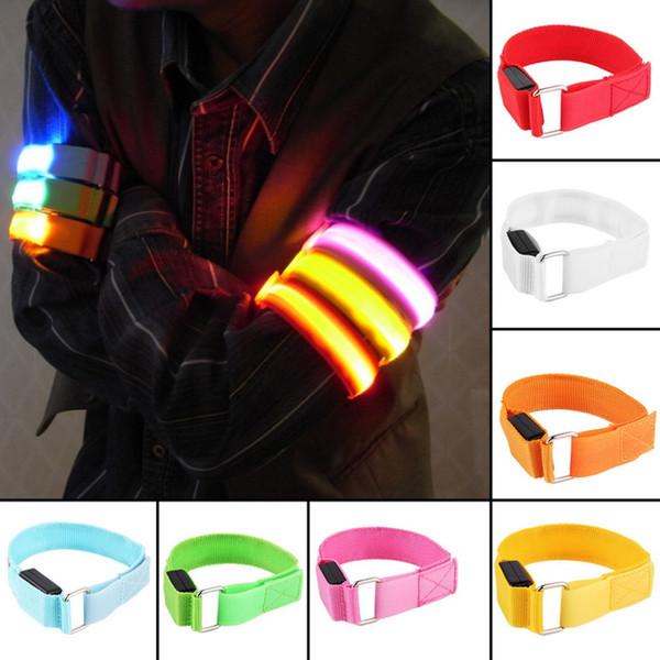 Bandas de brazo de LED Bandas de seguridad para la pierna Bandas de seguridad para ciclismo / patinaje / fiesta / tiro 7 colores envío gratis