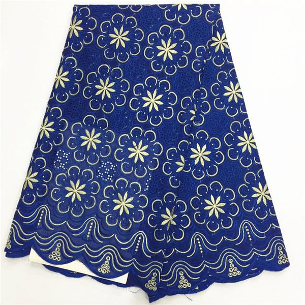 Высокое качество швейцарский вуаль кружева синий Африканский вуаль швейцарский кружевной ткани Африканский швейцарский хлопок вуаль кружевной ткани для одежды
