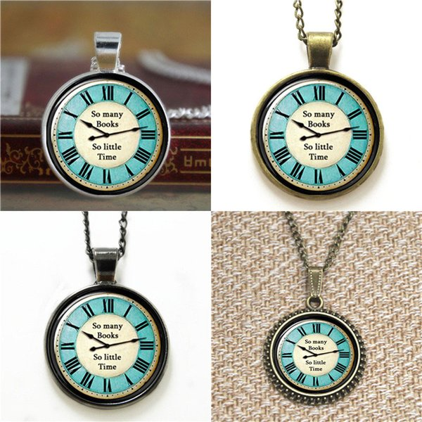 10pcs So Many Books Blue Round Pendant Book Lover Heart Glass Photo Necklace keyring bookmark cufflink earring bracelet