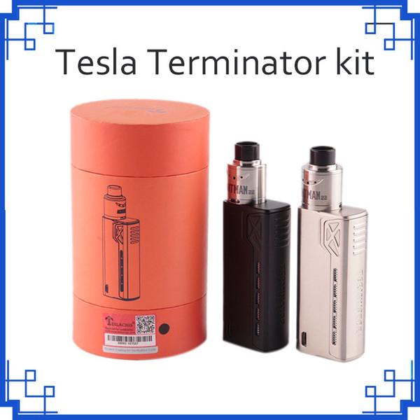 Tesla Terminator Kit 90W TC Starter Kit VW 18650 Battery Box Mod Antman 22 RDA атомайзер 0268057
