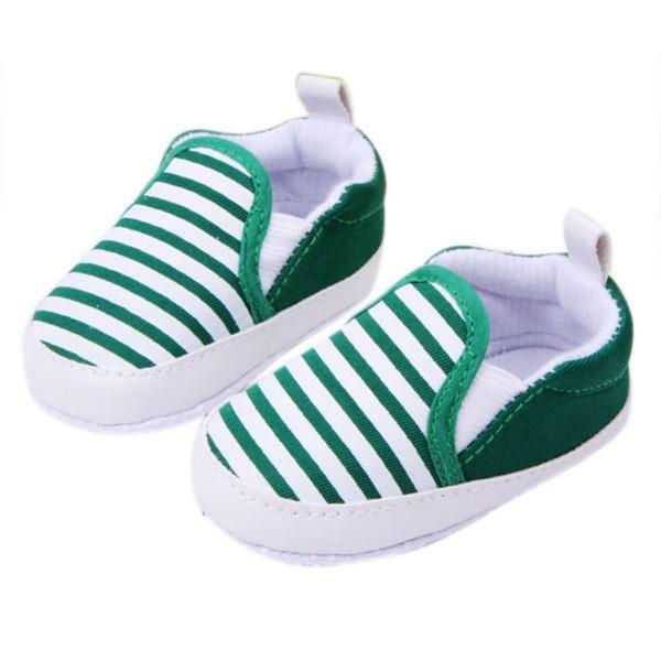 Fashion Baby First Walkers Shoes Kids Soft Boom Walking Shoes Boy Girl Striped Anti-Slip Sneakers 3 Colors