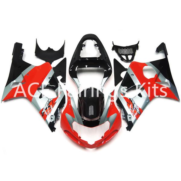3 бесплатные подарки Новый Suzuki GSXR1000 K1 K2 00 01 02 GSXR1000 K1 K2 2000 2001 2002 инъекции ABS пластик мотоцикл обтекатель красный серебряный стиль v69