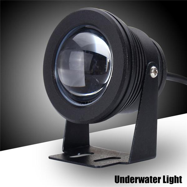 Großhandelsaluminium LED Unterwasserlicht 10W Marineboot Yachtfischen Lampe Blaulicht LED Flutlicht Wasserdicht IP68 DC 12V