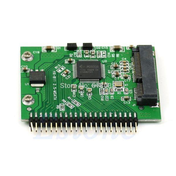 Venda por atacado- SSD mSATA para conversor de IDE de 44 pinos 5 volts adaptador como 2,5 polegadas IDE HDD para Laptop