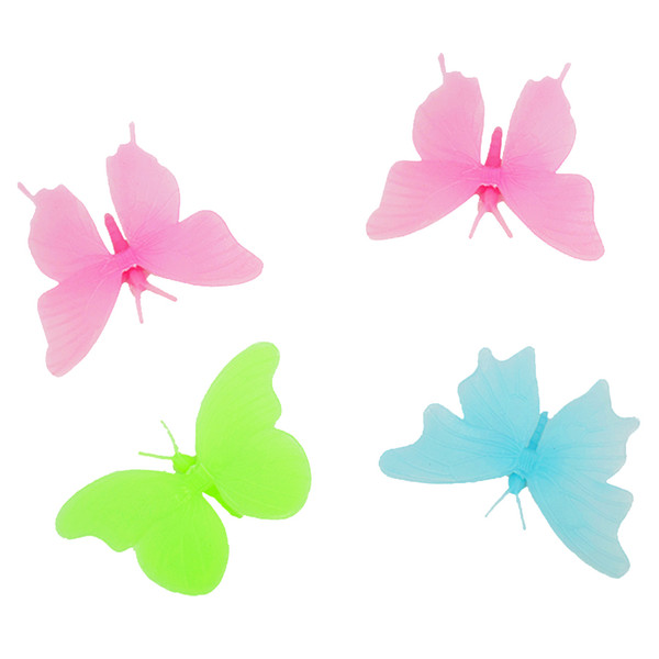 Diy butterfly kids wall sticker for kids room glow in the dark wall stickers home decor living room fluorescent poster wallpaper