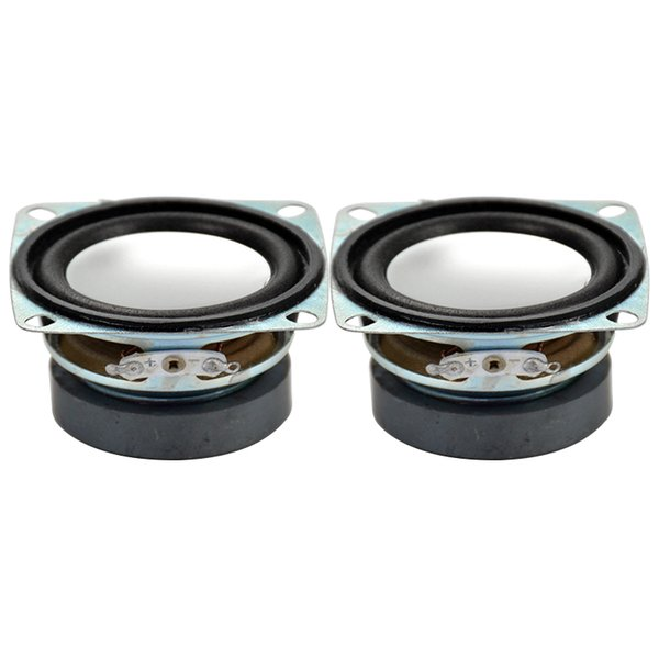 Wholesale- 2Pcs 2Inch 4Ohm 3W Full Range Tweeter Speaker Mini Stereo Loudspeakers Box Diy Portable Speakers