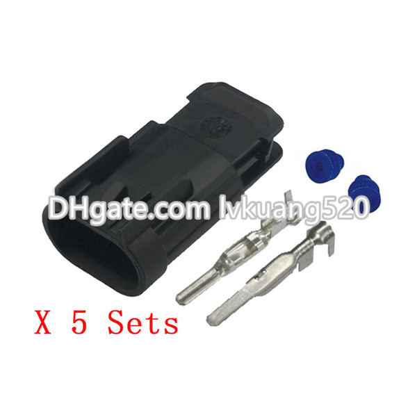 5 Sets 2 Pin 2.8mm Waterproof car connector male plug connector terminal connector DJ7025D-2.8-11
