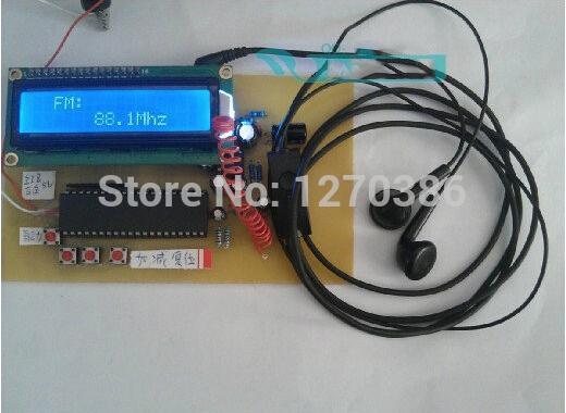 Wholesale-Free Shipping!!! FM TEA5767 radio 51 microcontroller design Manual / Auto Tuning Storage Module Electronic Kit