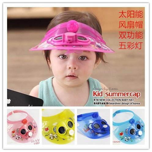 Summer male and female solar cap battery, fan cap, cartoon sun visor