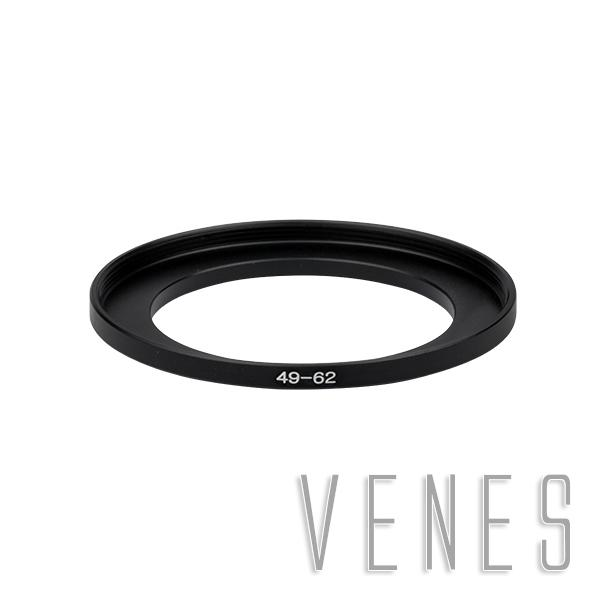 Wholesale- 49-62mm Step-Up Metal Lens Adapter Filter Ring / 49mm Lens to 62mm Accessory