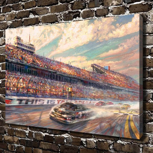 HD Printed Thomas Kinkade Oil Painting Home Decoration Wall Art on Canvas This Is Talladega 24x36inch Unframed