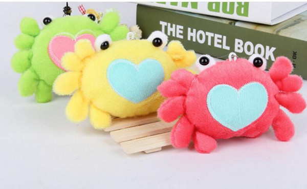 Free shipping Crab phone pendant Bag pendant wedding party gift Small dolls Plush pendant toys Stuffed Animals hot sale new arrive