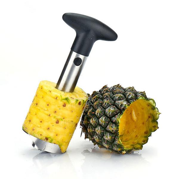 2017 Vendita calda Ananas Corer con acciaio inossidabile Accessori da cucina in metallo Utensili da frutta Parer Coltello Peeler Corer con scatola YZ001