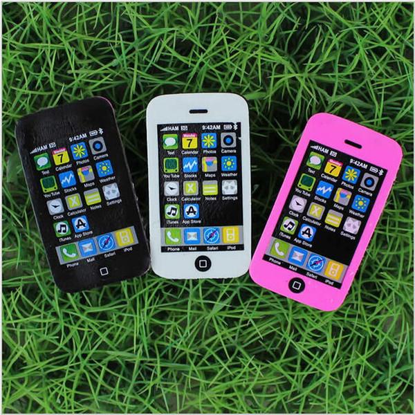 Wholesale-2pcs/lot New fancy iphone shape eraser / phone eraser / gift eraser/children gift/sweet stationery Office & School Supplies
