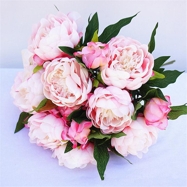 """HOT Fake Peony (3 heads/piece) 50cm/19.69"""" Length Artificial Peony Flowers Camellia for DIY Bridal Bouquet Accessories 6 Colors Available"""