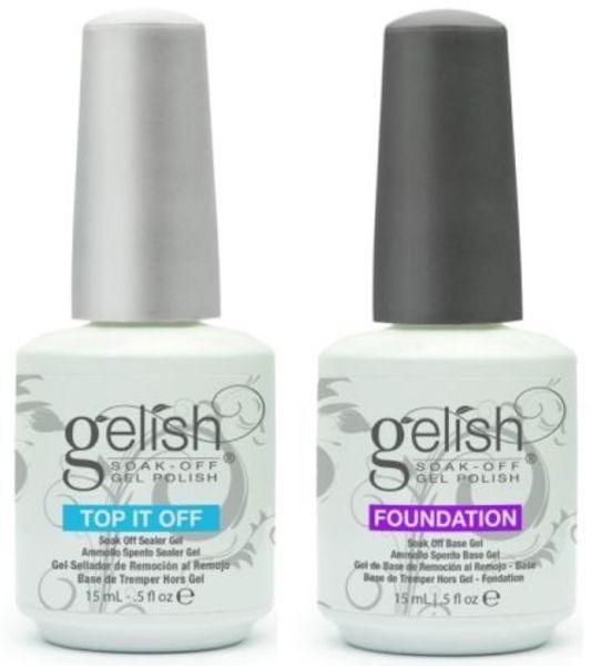 best selling 60pcs lot Soak off led & uv harmony gelish gel nail polish gel lacquer base coat foundation and top coat