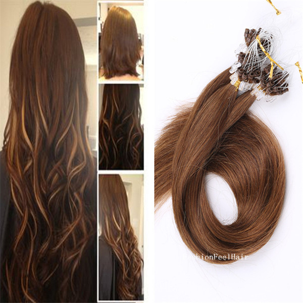 Pre Bonded Micro Loop Hair Extensions Premium Quality Brazilian Hair