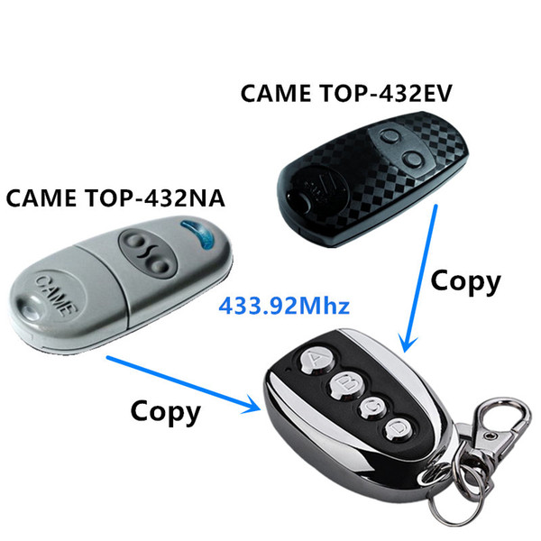 Wholesale- 433.92 Mhz Duplicator Copy CAME remote control TOP 432EV TOP-432NA TOP432NA With Battery For Universal Garage Door Gate Key Fob