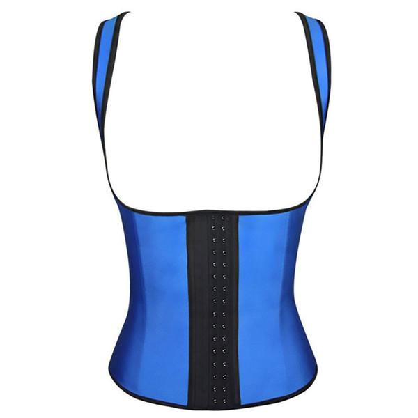 Waist Shaper Women Latex Vest Corset Bustier Sexy Slimming Belt Rubber Waist Cincher Trainer Steel Boned Underbust Plus Size