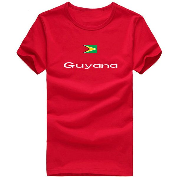 Guyana T shirt Water sport short sleeve Summer design tees Nation flag clothing Unisex cotton Tshirt