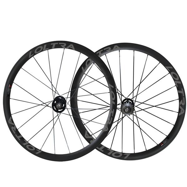 White Decal 38mm Tubular Fix Gear Wheelset carbon track bike Front Rear wheels fixed gear flip flop single speed bicycle wheelset