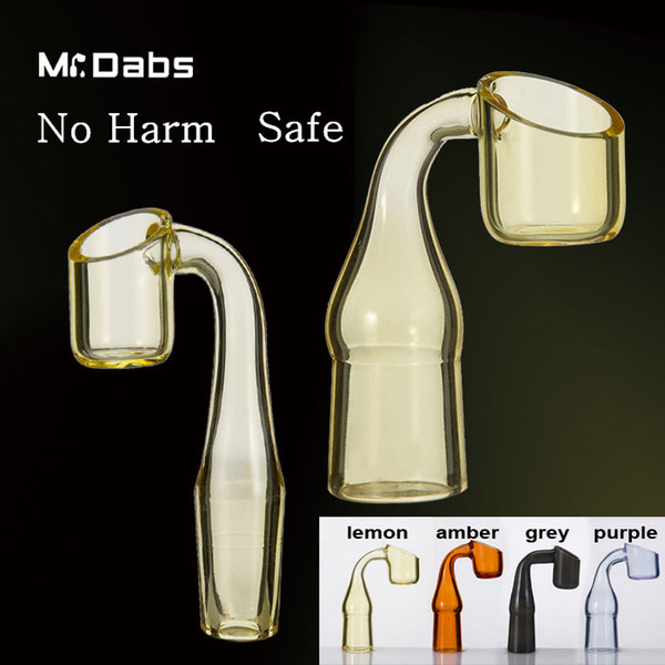 2mm Thick Color Quartz Banger Nail 90 Degree semi-colored Quartz Nail 10mm/14mm/19mm Male/ Female Joint at Mr Dabs