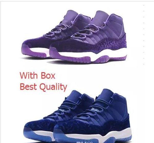 more photos 39e2e 0ae93 Velvet Heiress Blue Velvet Heiress Purple Retro 11 New Basketball Sneakers  With Box White Blue Black Wholesale Basketball Shoes Men With Box Mens ...