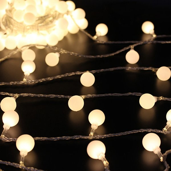 wholesale 6m led fairy light battery power 50 led string light christmas ball shaped wedding party festival curtain celebration decor