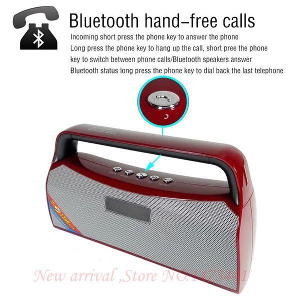 En gros- portable super bass haut-parleur bluetooth avec fm radio tf usb mp3 lecteur de musique boombox au téléphone portable pc haut-parleur rechargeable